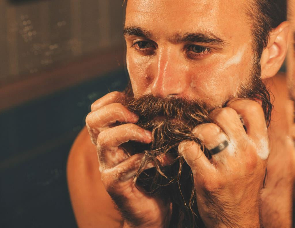 how to clean your mustache