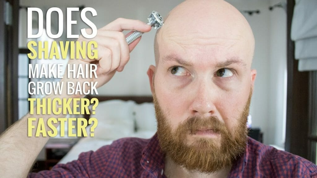 Does shaving make hair grow back thicker?