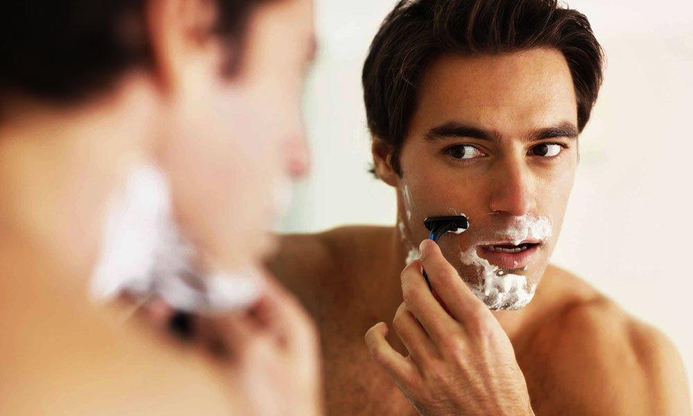 shaving with grain